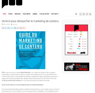 La Belgique découvre le Guide du marketing de contenu.